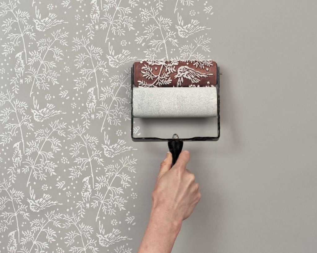 These patterned paint rollers from The Painted House are clever tools for recrea