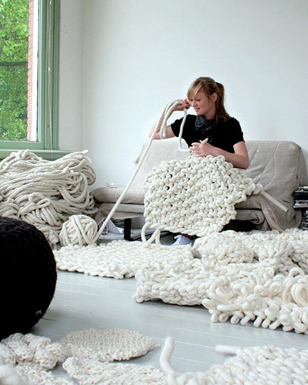 Giant knitting!