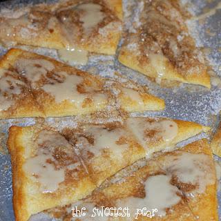 Crescent Cinnamon sugar pizza
