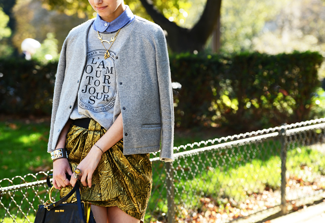Love this combo from Tommy Ton Shoots the Street-Style Scene at the Spring 2013