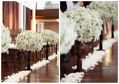 Aisle floral arrangements