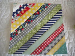 Finished String Quilt Block