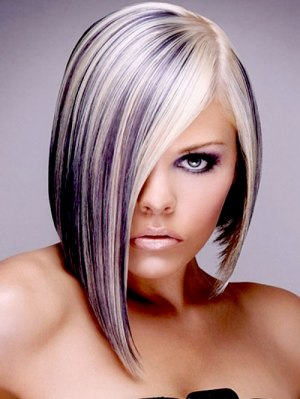 Blonde and purple hairstyles