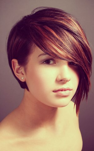 Short haircut ideas with color