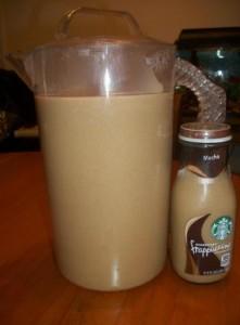 10 cups coffee 1/2 cup sugar 1/2 cup brown sugar 1/2 cup vanilla creamer. This i