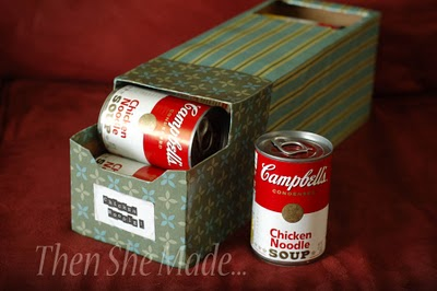 """Another """"Duh"""" that you overlook. Soda can boxes for any other can stor"""
