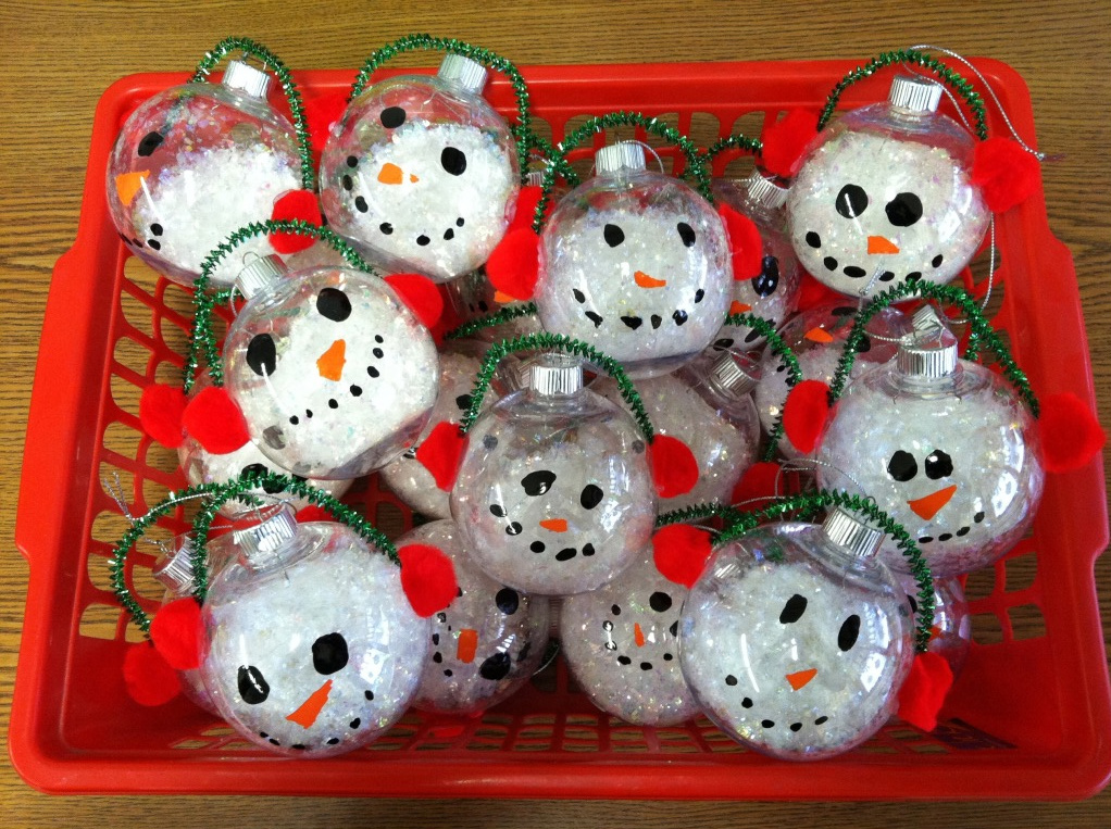 """Cute parent gift. They also made a card that said, """"I love you """"SNOW&q"""