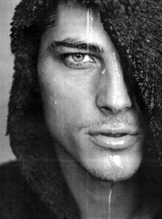 Male Model Atesh Salih, Turkish father, German mother, face of Georgio Armani fo