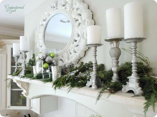 Chic on a Shoestring Decorating: Christmas Mantels (or Mantles?)