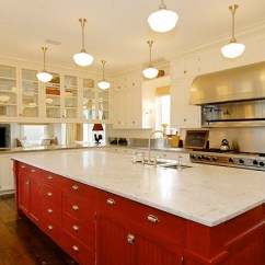 Red Kitchen Islands Hutch Island We Know How To Do It