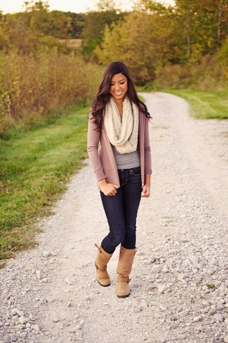 infinity scarf and sweater