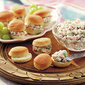 Ham Spread on Mini Rolls. I relied on Grandma's recipe to make easy finger f