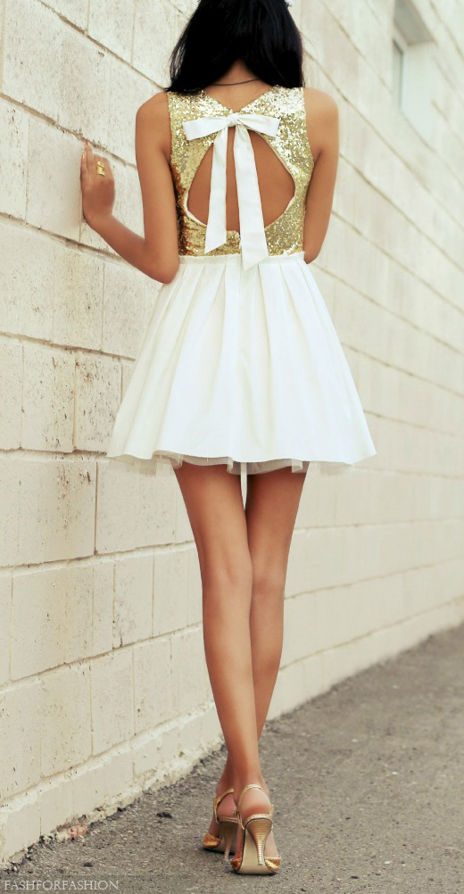 bow and sparkle dress
