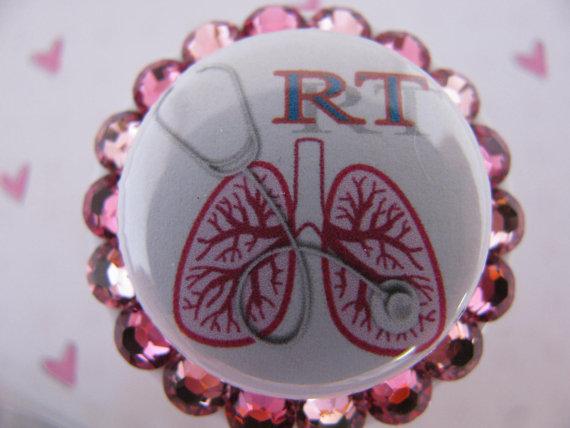 Respiratory Therapy Swarovski Crystal ID Badge by sparklinghope, $11.00