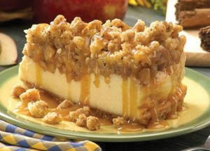 apple crisp cheesecake – Perfect for fall!