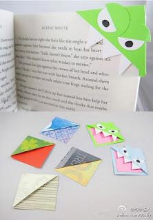 Origami Bookmark Monsters