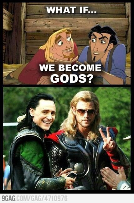Love it.  I love it even more that Thor has his sunglasses and Loki has his cell