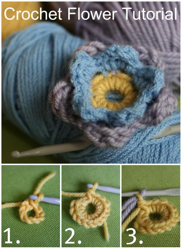 Crochet Flower tutorial…
