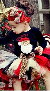 Leopard Print Christmas Tutu Outfit