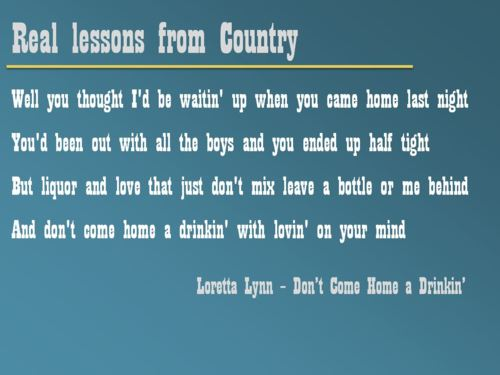 Real lessons from country #2.