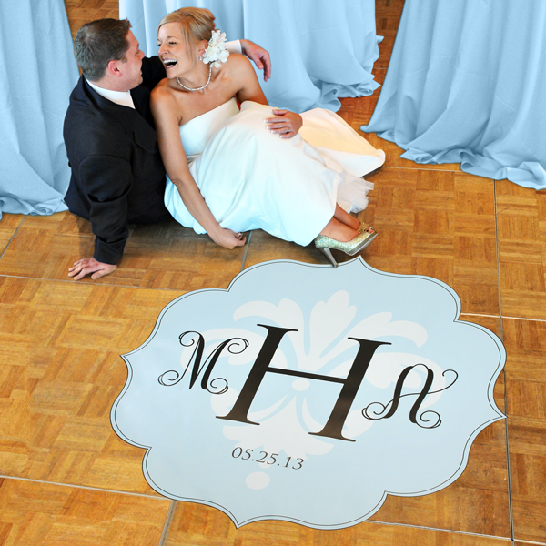 Modern Love Wedding Dance Floor Decals.  I love this idea I'm getting one fo
