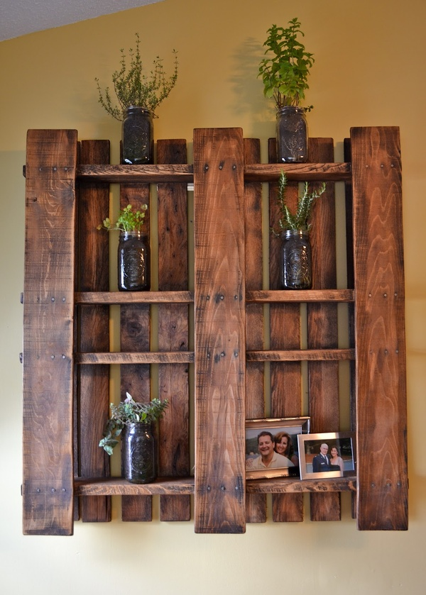 Pallet – just stain and take out some slats…