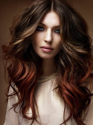 dark brown hair with highlights and ombre