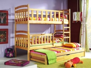 Bunk Beds With High Rails For More Safety
