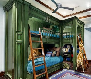 Green Massive Bunk Bed For Three