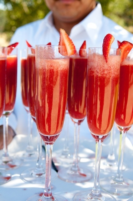 Strawberry Mimosas–for Xmas morning!
