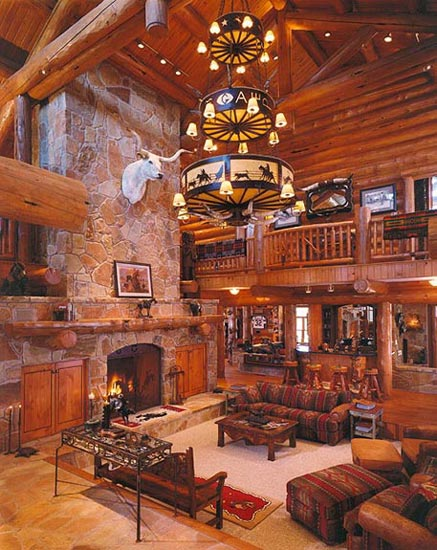 Former Dallas Cowboys defensive end log home in Texas.  Built by Custom Log Home