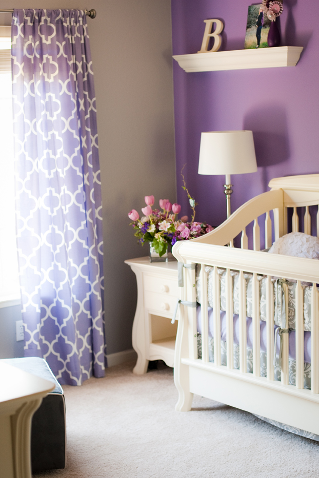 purple & gray nursery. I just wanna throw this out there! But that is exactl