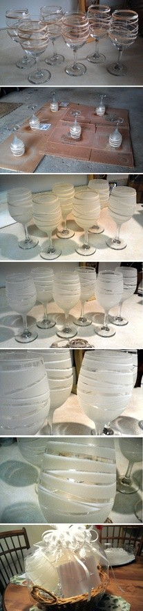 D.I.Y. Frosted Wine Glasses
