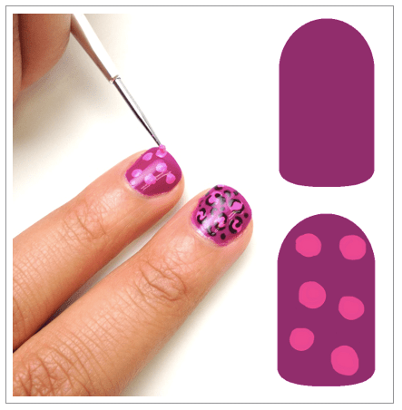 How to Cheetah Print: Step 1 #nails