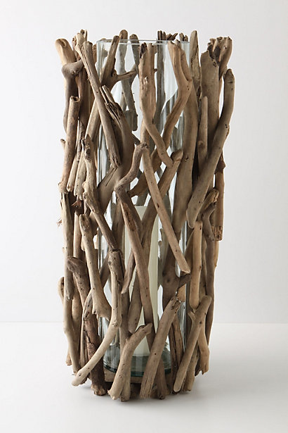 Twig vase. Attach them with tiny dots of hot glue.