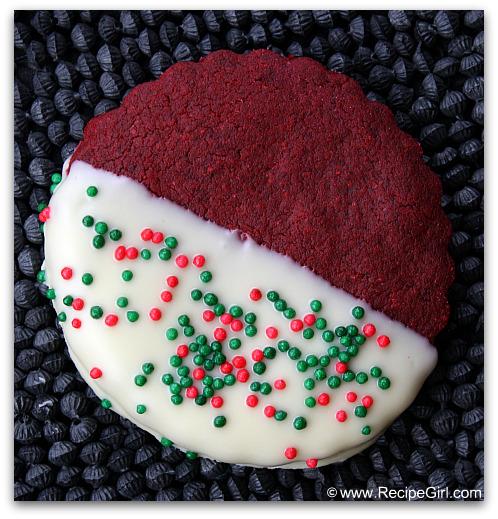 Christmas Cookie Exchange: Red Velvet Shortbread Cookies   Recipe Girl