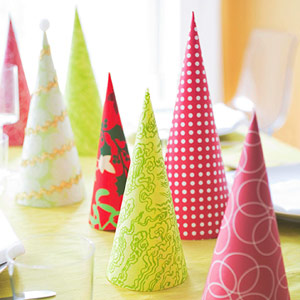 Paper Trees- Use extra scrapbook or wrapping paper!
