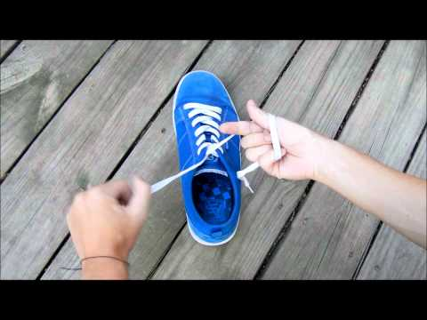 This is the best (and fastest) way to tie shoes. I even teach the kids when I&#3