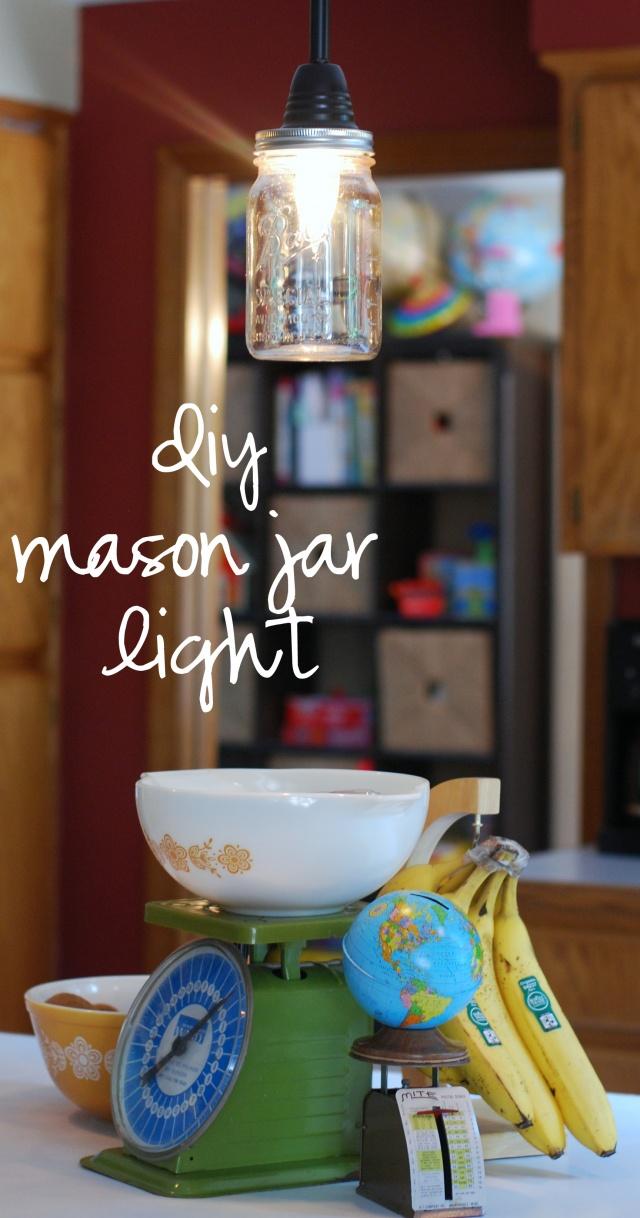 {diy} mason jar light