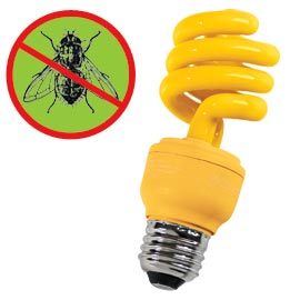 13W Yellow Bug Light   Enjoy your porch and patio after dark…without bugs.