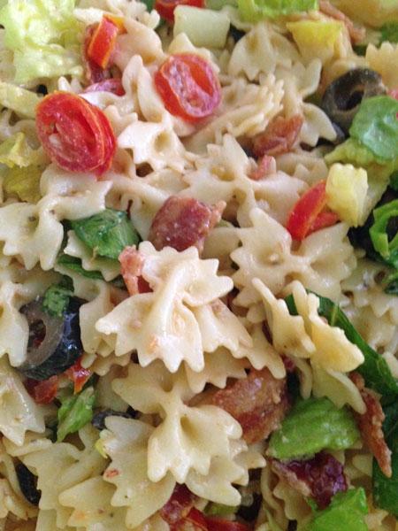 Caesar BLT Pasta Salad. This pasta salad is now my family's new favorite. Qu