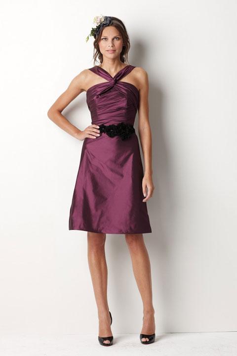 tea length bridesmaids gowns….This one is cute @Samantha Bachmann