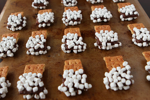 sweet little S'more treats…Graham cracker dipped in chocolate, then sprink
