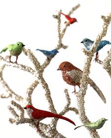Glittered Bird Centerpiece