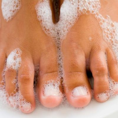 Use 1TBS peroxide and 2 1/4 TBS baking soda, and soak nails for 5 minutes…leav