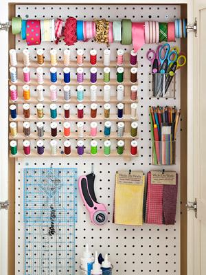 Great craft room organization idea!