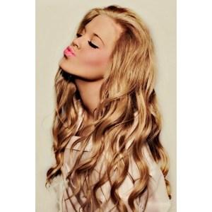 Beauty tips / Curly hair + blush + bright lips