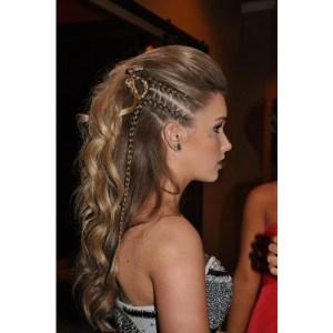 Faux Hawk Women Long Hair Braid