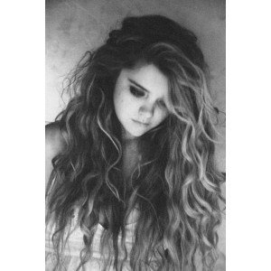 makeup, black and white, blonde, brunette, curly hair