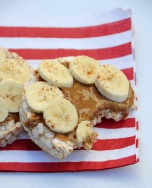 Gluten Free almond butter banana snack